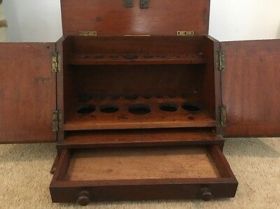 The Holborn Surgical Instrument London Test Tube Cabinet -Antique