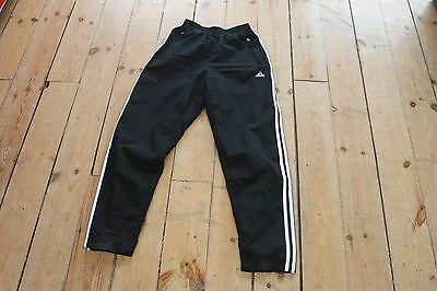 WOMENS Vintage Black Adidas trackpant SPORTS RUNNING TRACKSUIT BOTTOMS JOGGERS 8