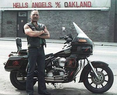 Hells Angels Boss Sonny Barger In Oakland California Grainey Glossy 8x10 Photo
