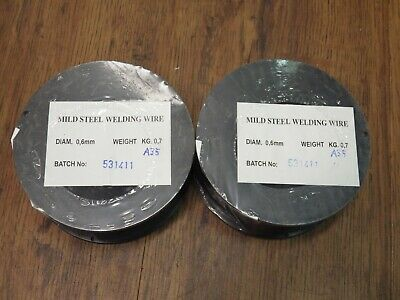 0.8mm 0.6mm COPPER COATED MILD STEEL MIG WELDING WIRE 0.7kg FOR USE WITH GAS