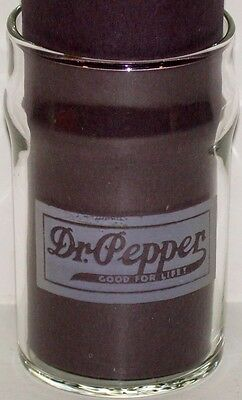 Vintage soda fountain glass DR PEPPER Good For Life slogan early etched original
