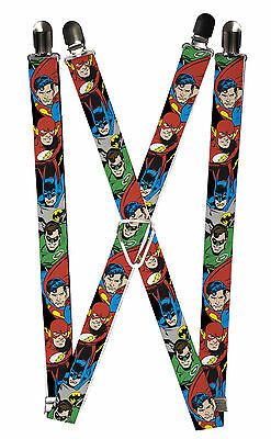 New Buckle Down Kids' Elastic DC Justice League Superhero Clip End Suspenders
