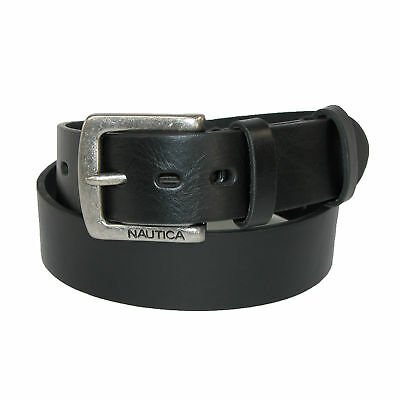 New Nautica Boys' Saddle Leather with Double Keeper Jean Belt