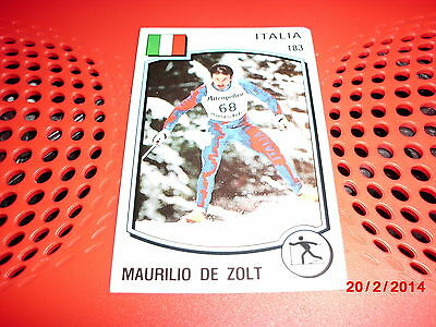 #183 Maurilio De Zolt / Skiing / Italy / Panini Supersport sticker Olympics