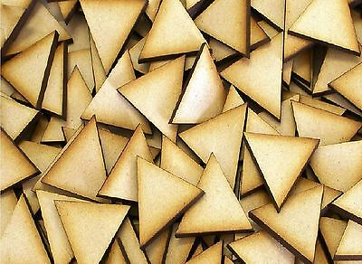MDF Wooden Triangle Shapes 3mmThick Laser Cut Wood Base 10mm to 75mm