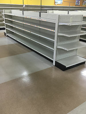 4' Ft Aisle Gondola For Convenience Store Shelving Used