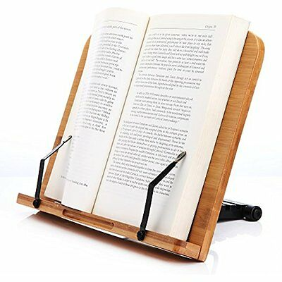 Book Holder Stand Readaeer Wooden BamBoo Reading Book Rest Pillow Bed Travel