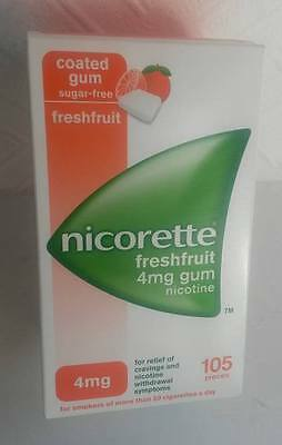 NICORETTE Freshfruit 2mg / 4mg Chewing Gum X 105 Pieces (OUT OF DATE)