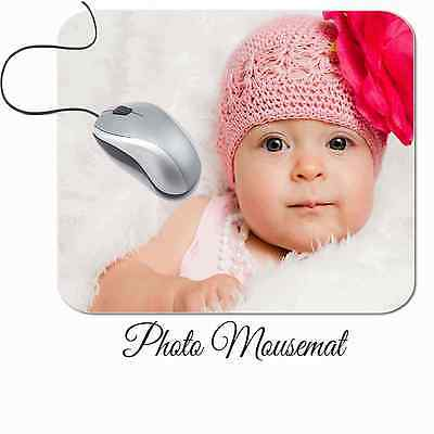Personalised Printed Mouse Mat any photo text 5mm thick Good Quality