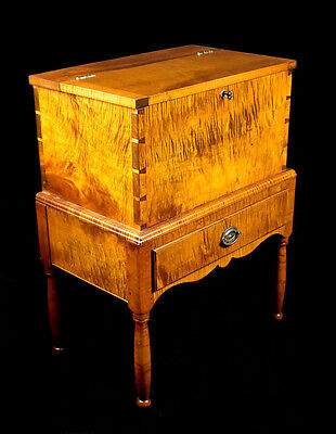 Tiger Maple Kentucky Style One Drawer Sugar Chest