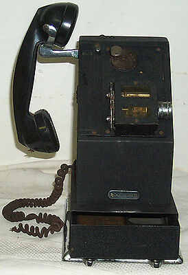 Vintage 1920's (?) National Cash Register Stamping Telephone W / Drawer