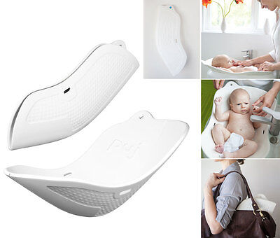 Puj White Soft Foldable Travel Bath Infant Baby Bathing Tub Sink Shower Flyte