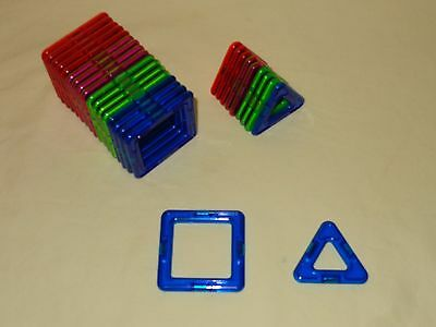 Magformers 28 Piece Set Magnetic Building Toy - squares & triangles