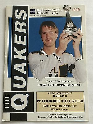 Darlington v Peterborough United - 23 November 1991 Football Programme