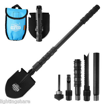 Multi-function Folding Shovel Camping Spade Hiking Military Outdoor Survival NEW