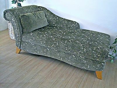 Fainting Couch Sofa Chaise Green Velvet  Leaf Pattern -Ship or Pick Up Phoenix.