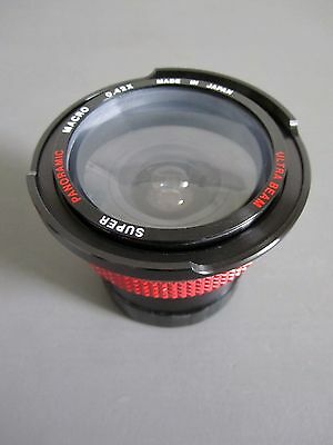 Vintage super panoramic/semi fish-eye conversion lens with carry case