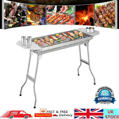 Outdoor Barbecue Pits Stainless Steel Charcoal Grill Portable Fold BBQ Oven Sale