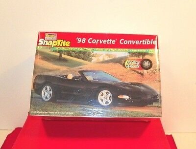 Free Ship Nw 1998 Corvette Car Convertible Snaptight Model Rolling Wheels Toy 8+