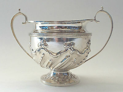 Bowl Georgian Revival Armorial Crest Solid Sterling Silver  Wellby  London 1895
