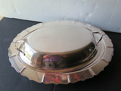 Vintage Early American International Silver 2 Pieces Set Serving Casserole Dish