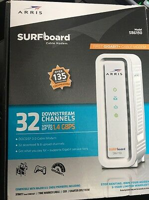 ARRIS SURFboard SB6190 DOCSIS 3.0 Cable Modem - White