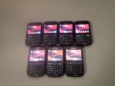 USED LOT OF 7 BLACKBERRY  CURVE 8530 - Black
