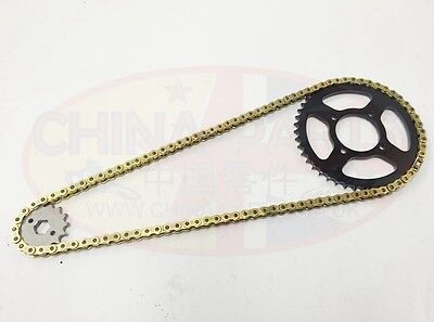Yamaha YZF R125 Chain And Sprocket Kit GOLD Heavy Duty Chain and Sprocket Kit