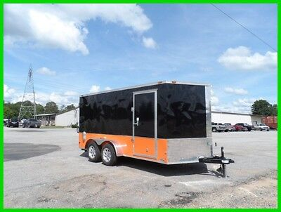 7x14 2ft v 16 Free Harley Davidson decals enclosed cargo motorcycle Trailer New