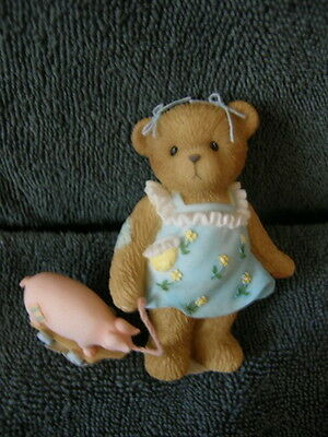 Cherished Teddies MARY ELLEN 4016850 LET THE GOOD TIMES ROLL BEAR & PIG TOY