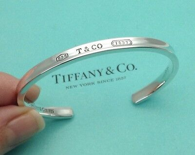 Tiffany & Co. Sterling Silver 1837 Cuff Bangle Bracelet