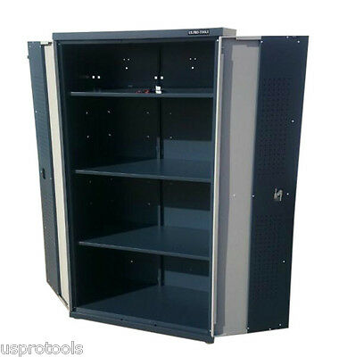 236 Us Pro Metal Garage Tall Large Grey Storage Cupboard Office Chest Tool Box