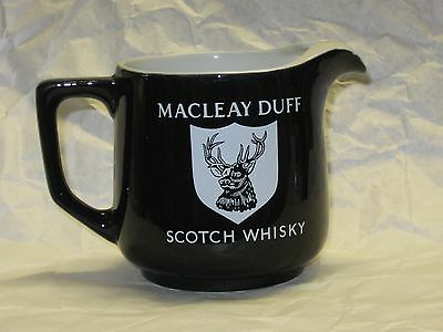 Vintage MACLEAY DUFF Scotch Whisky Water Pitcher - Pub Jug