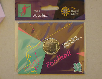 Olympic Games London 2012 Football 50p coin *Sealed*