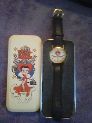 Vintage TALI - BETTY BOOP watch Fleischer Studios Inc+ COLLECTOR'S  TIN