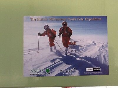 Collectors Post Card.The British Millennium North Pole Expedition.