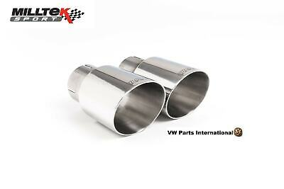 Audi A4 1.8T Quattro MILLTEK Sport Exhaust Dual 90mm GT90 Tips Trims Tails Only