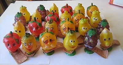 Vintage 1971 1972 HOO's Funny Fruits full display box plastic candy containers