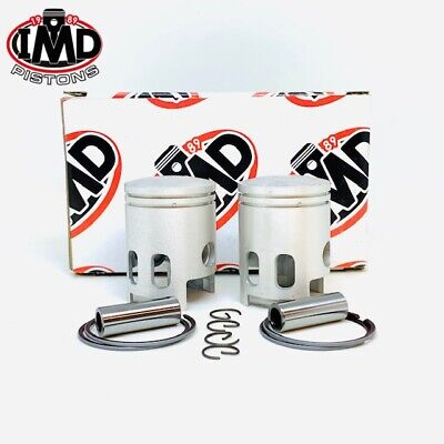 YAMAHA RD125 Twin RD125DX PISTON KITS (2) +0.5mm 466 1E7 NEW