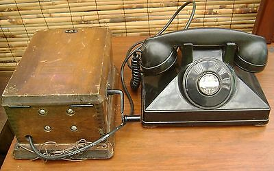 Vintage Northern Electric Telephone with Wood Crank Ringer Box