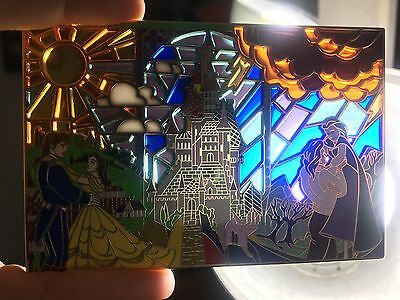 Beauty And The Beast Disney Pin Fantasy Stained Glass