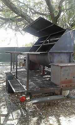 4th of july special.. grill barbecue/smoker on a trailer 16ft. Has 2 Hot Boxes.