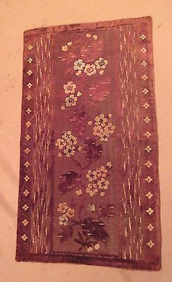 vintage ornate embroidered centerpiece table mat runner velour needlepoint 22'