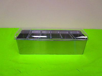Co-Rect Stainless Steel Roll Top Condiment Holder 6 quart