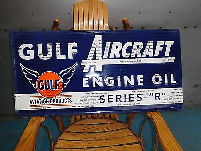 Gulf Oil Sign Aircraft Engine Oil Sign