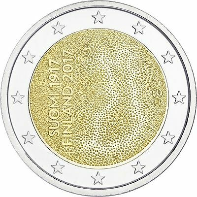 "2017 Finland 2 Euro Uncirculated Coin ""Independence 100 Years"""