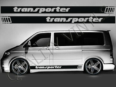 Rs183 Vw Volkswagen Transporter T4 T5 T6 Racing Stripes Graphic Decal Stickers