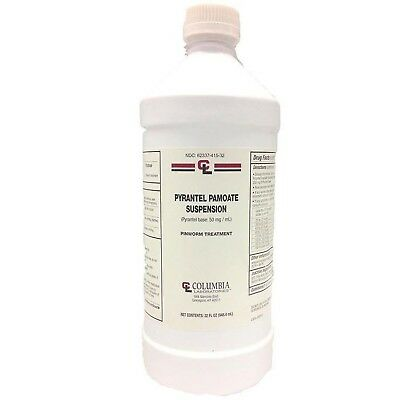Columbia Pyrantel Pamoate Suspension  Dog Cat Wormer 32 oz  FREE SHIPPING