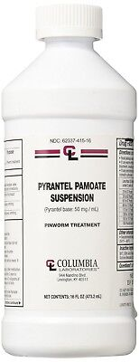 Pyrantel Pamoate Suspension  Wormer 16 oz bottle  FREE SHIPPING