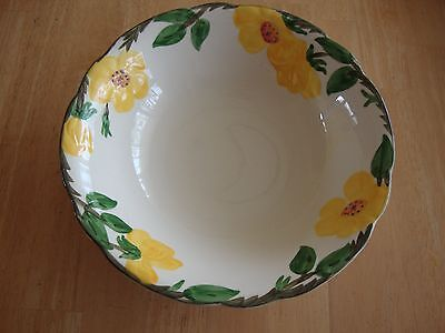 "Franciscan MEADOW ROSE 9"" Round Vegetable Bowl great condition"